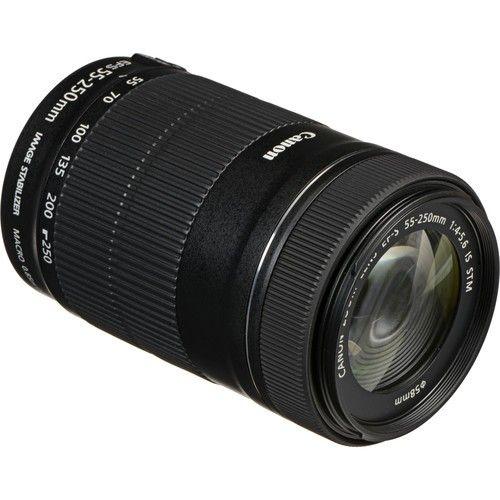 Objetiva Canon EF-S 55-250MM F/4-5.6 IS STM