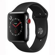 Apple Watch Series 3 GPS, 38 mm, Aço Inoxidável Cinza Espacial, Pulseira Esportiva Preto