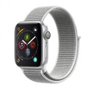 Apple Watch Series 4 GPS, 40 mm, Alumínio Prata, Pulseira Esportiva Loop Cinza