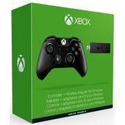 Controle sem Fio para Xbox One + Adaptador sem fio p/ PC - Preto