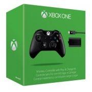 Controle sem Fio para Xbox One + Carregador Xbox One - Preto