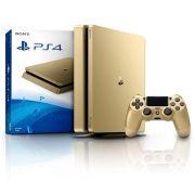 Playstation 4 - 500Gb Slim Dourado + Cabo HDMI + 15 Jogos PSN (2 Controles)