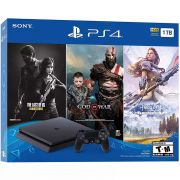 Playstation 4 Slim - 1 Terabyte + 3 Jogos (God of War + Horizon Zero Dawn + The Last of Us) (2 Controles)