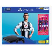 Playstation 4 Slim - 500Gb + Fifa 19 (2 Controles)