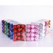 Kit C/24 Bolas de Natal Lisas/Foscas/Glitter de 6cm - Preta
