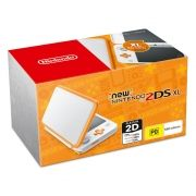 New Nintendo 2Ds XL - Branco e Laranja + 30 Jogos 3D na Memória