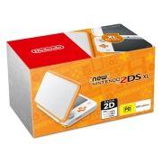 New Nintendo 2Ds XL - Branco e Laranja + 50 Jogos 3D na Memória