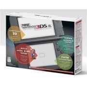 New Nintendo 3Ds XL Preto + Carregador Original Nintendo + R4 + 8Gb + 400 jogos + Case + Película + Caneta Adicional