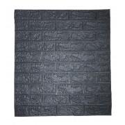 Painel Placa 3D Tijolo Cinza Espuma Adesiva 77 X 70 Parede