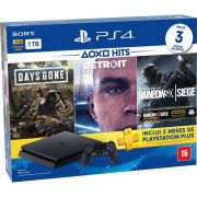 Playstation 4 Slim - 1 Terabyte + 3 Jogos (Days Gone + Detroit + Tom Clancy´s Rainbow Six)