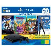 Playstation 4 Slim - 1 Terabyte + 3 Jogos (Ratchet & Clank + Spyro Reignite Trilogy + Crash Bandicoot N´Sane Trilogy)