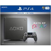 Playstation 4 Slim - 1 Terabyte - Edição Limitada Days Of Play (2 Controles)