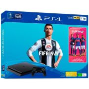 Playstation 4 Slim - 1 Terabyte + Fifa 19 (2 Controles)