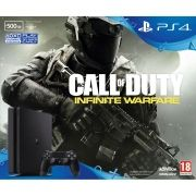 Playstation 4 Slim - 500 Gb - Call of Duty Infinity Warfare + Voucher com 15 Jogos PSN (Brinde) (2 Controles)