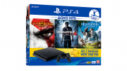 Playstation 4 Slim - 500Gb + God of War 3 + Uncharted 4 + Horizon Zero Dawn