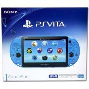 Playstation Vita Wifi Slim Azul + 32Gb + 15 Jogos na Memória