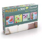 Quebra-cabeça (Puzzle) 4 x 300 peças Decorart Pop Verão
