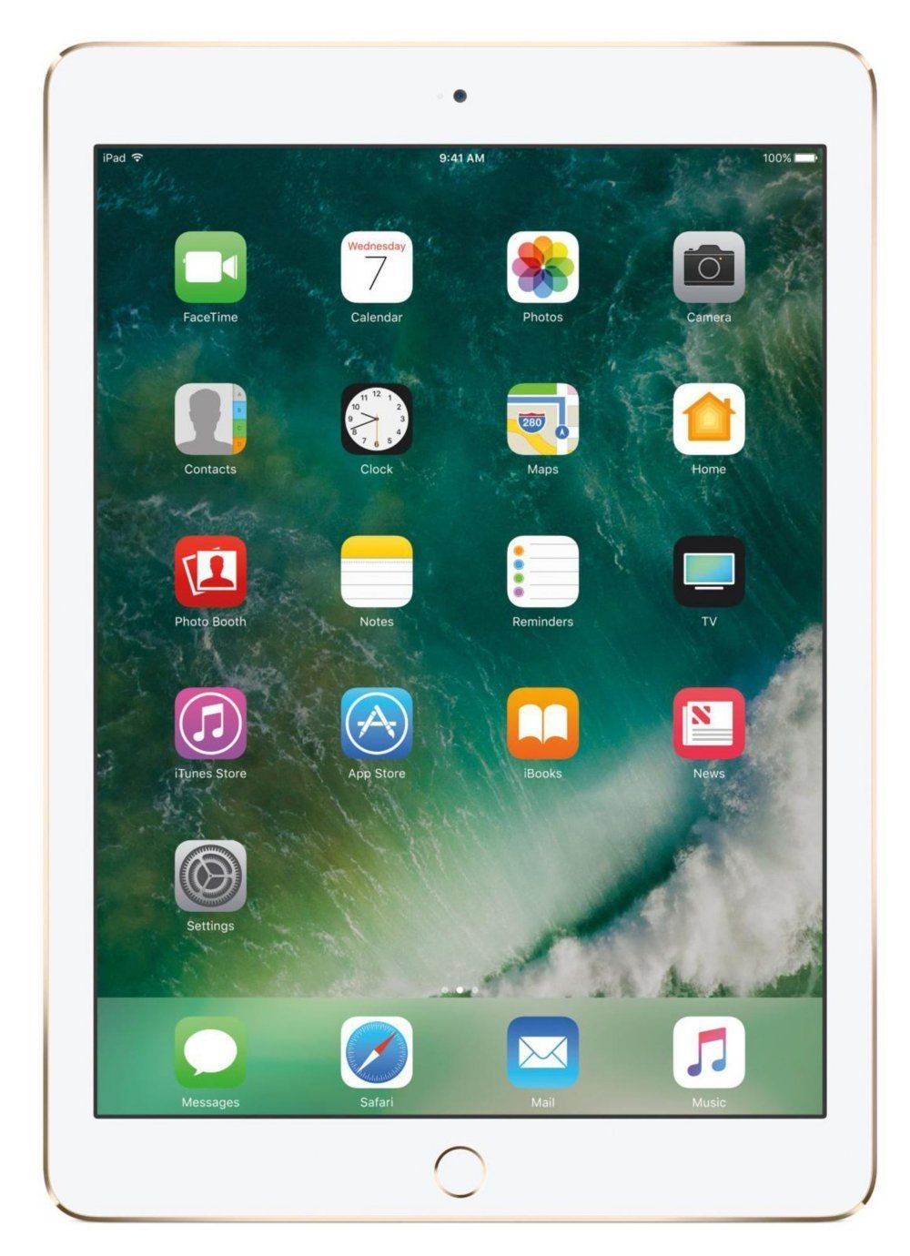 iPad Mini 4 Apple com 128GB, Wi-Fi, Tela 7,9'', Sensor Touch ID, Bluetooth, Câmera iSight 8MP, FaceTime HD e iOS 12 - Dourado