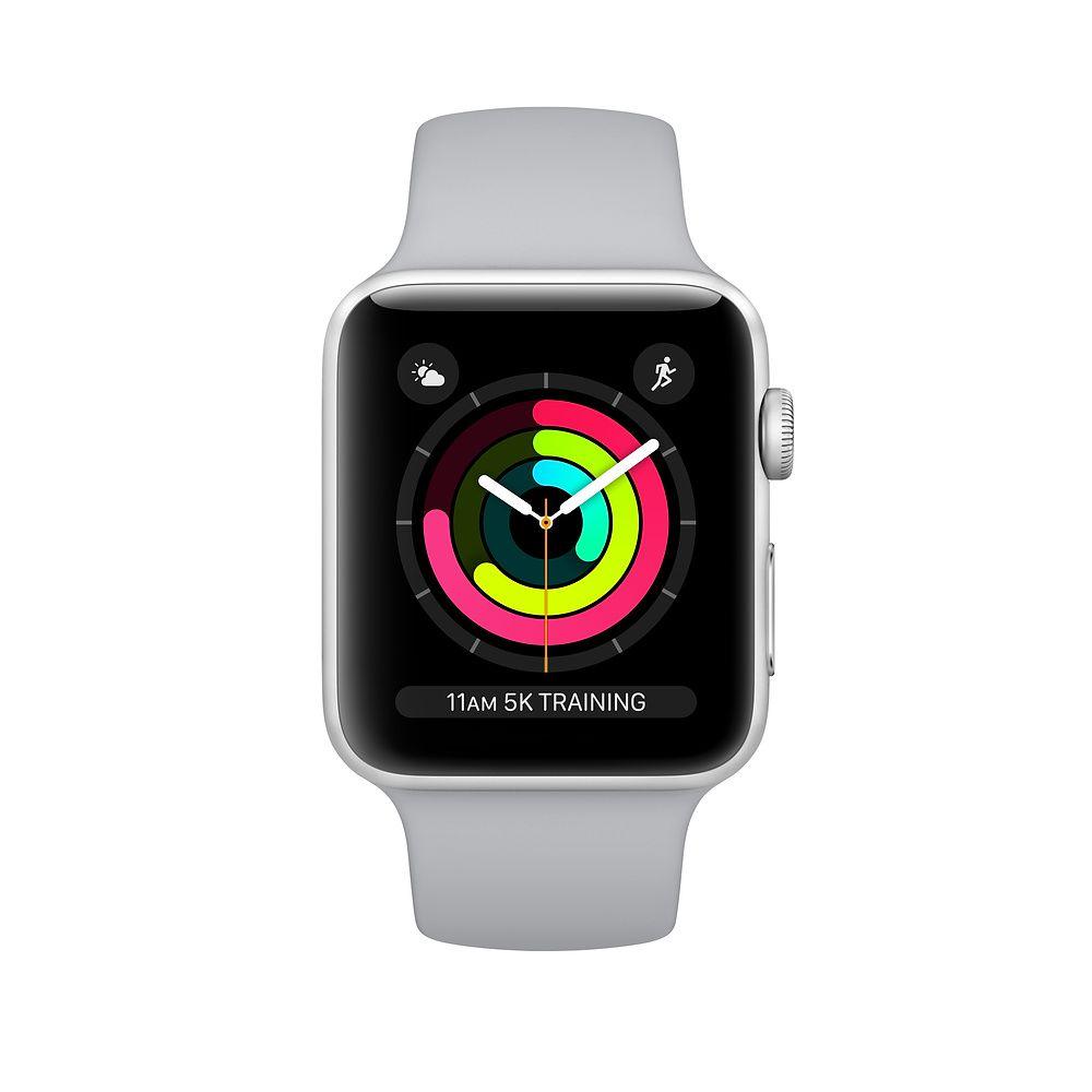 Apple Watch Series 3 GPS, 42 mm, Aço Inoxidável Cinza Espacial, Pulseira Esportiva Prata