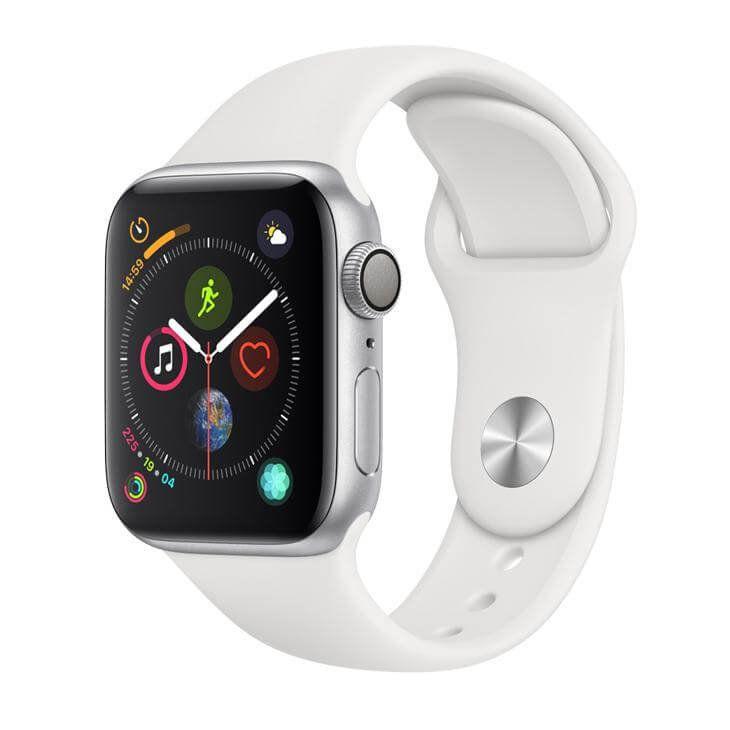 Apple Watch Series 4 GPS, 40 mm, Alumínio Prata, Pulseira Esportiva Branca