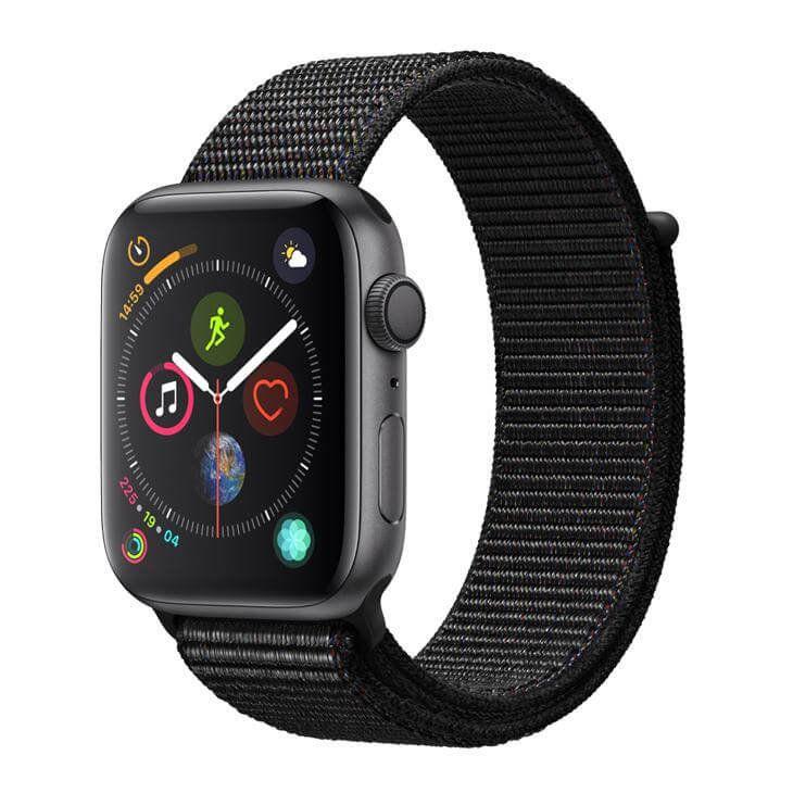 Apple Watch Series 4 GPS, 40 mm, Alumínio Cinza Espacial, Pulseira Esportiva Loop Preta