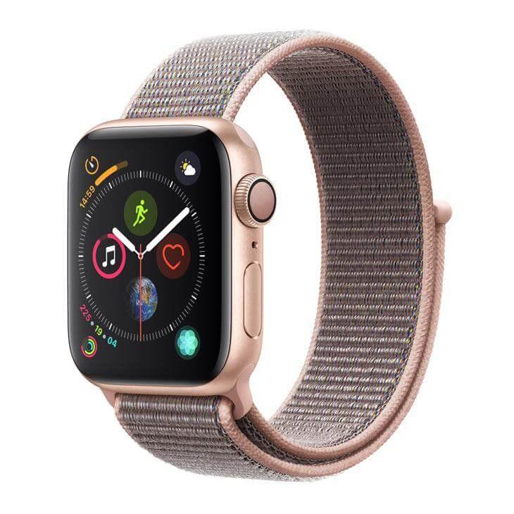 Apple Watch Series 4 GPS, 44 mm, Alumínio Dourado, Pulseira Esportiva Loop Rosa