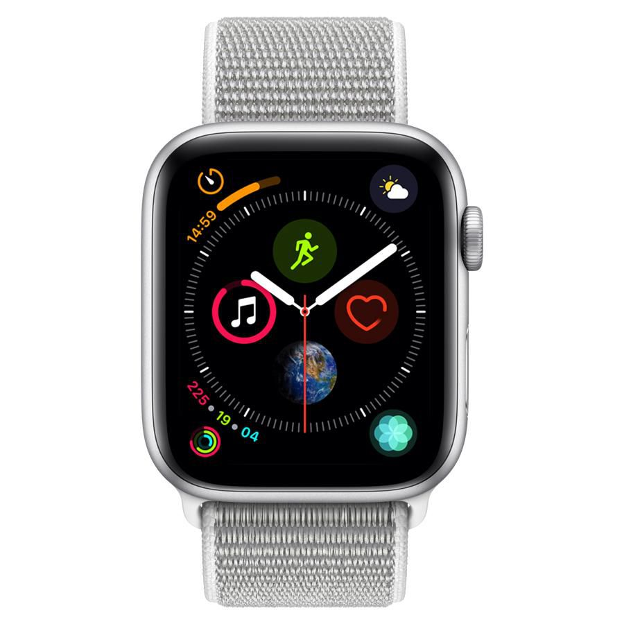 Apple Watch Series 4 GPS, 44 mm, Alumínio Prata, Pulseira Esportiva Loop Cinza