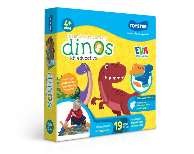 Aprendendo com os Dinos (kit educativo, peças em EVA)