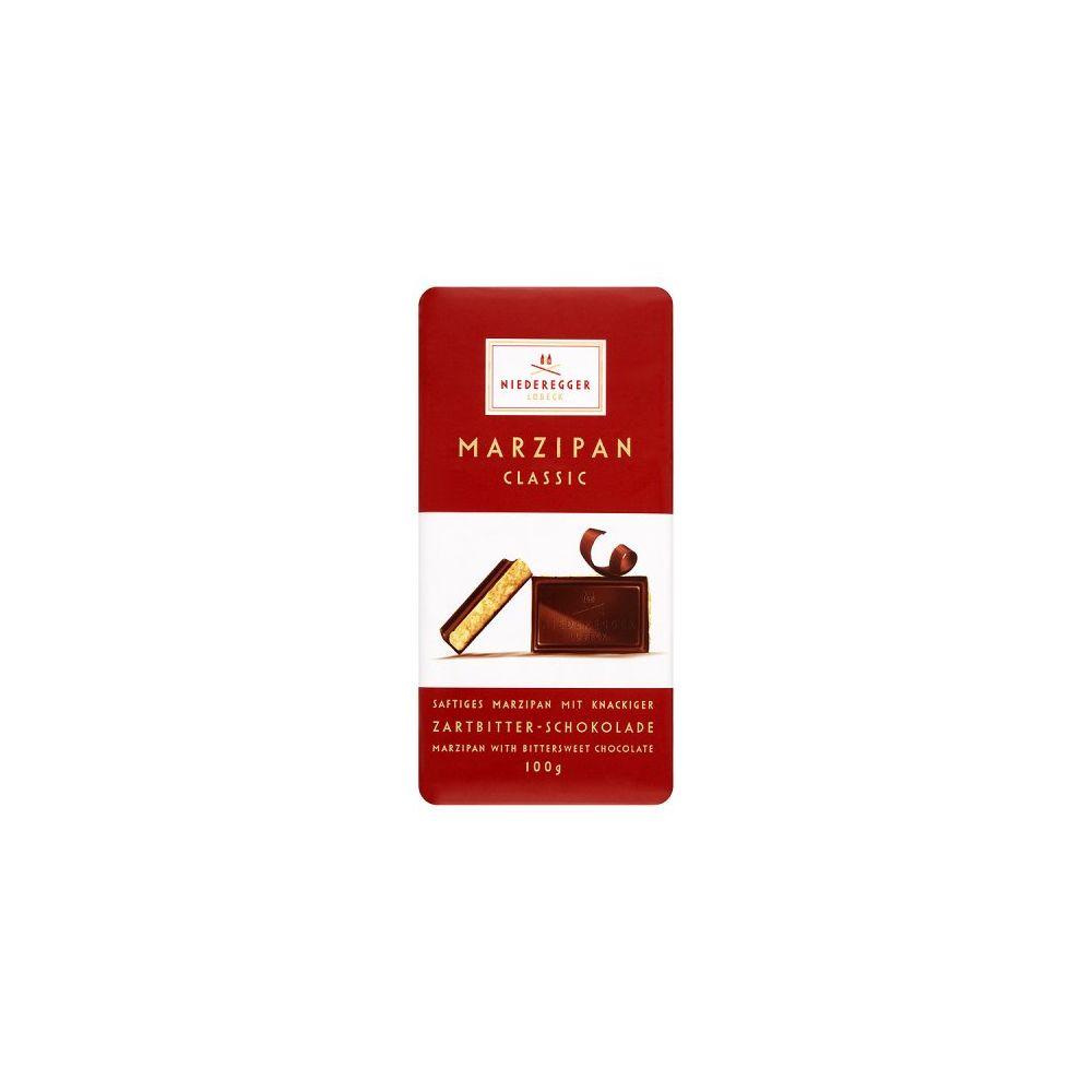 Barra Clássica Chocolate Puro com Marzipan 110g - Niederegger (2 Unidades)