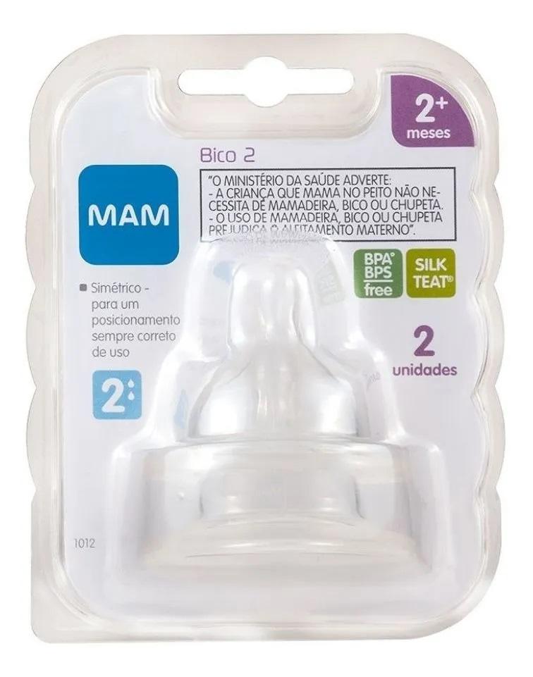 Bico 2 para Mamadeiras MAM - Fluxo Médio - 2+ meses