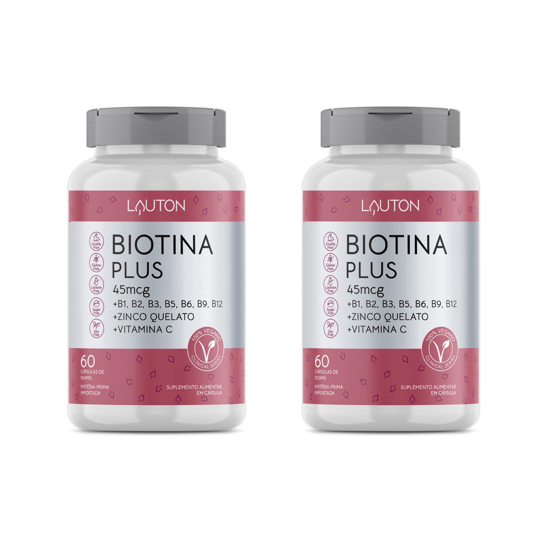 Biotina Plus - 45mcg - 60 Cápsulas - Lauton Nutrition (2 Unidades)
