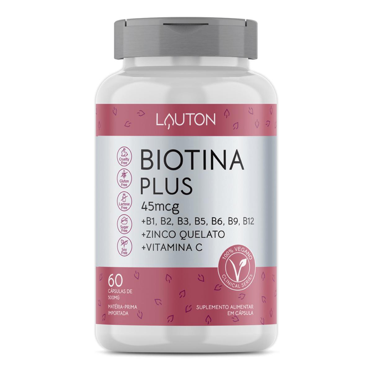 Biotina Plus - 45mcg - 60 Cápsulas - Lauton Nutrition