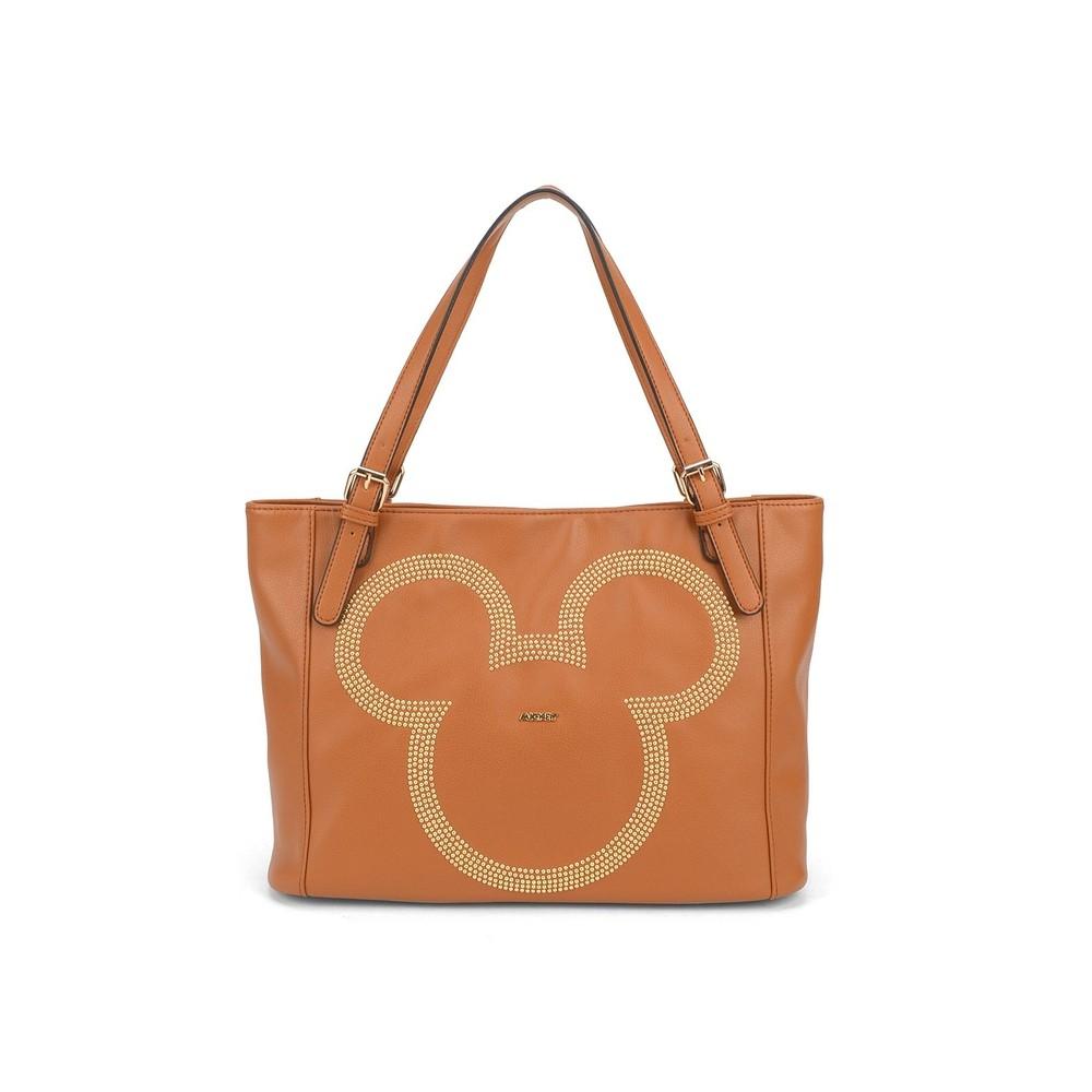 Bolsa Feminina De Ombro Mickey Mouse -Marrom
