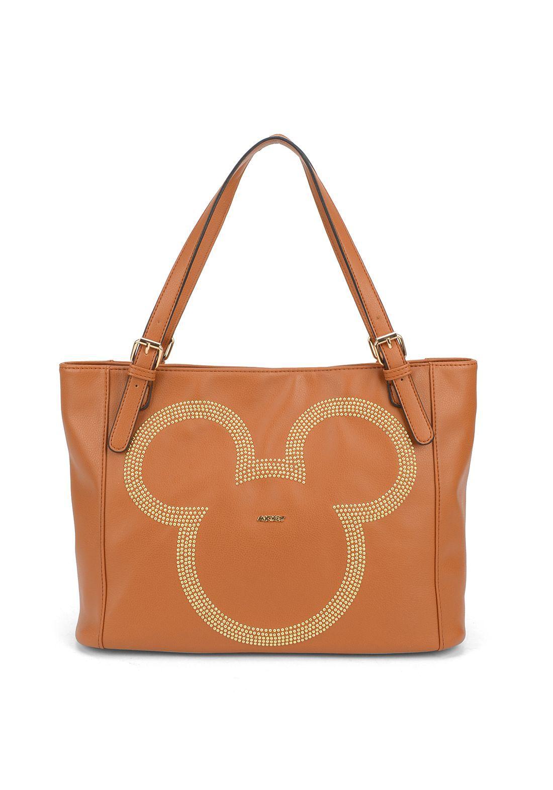 Bolsa Feminina Marrom Mickey