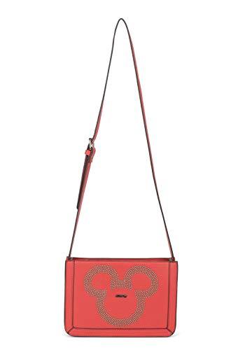 Bolsa Feminina Transversal Mickey Mouse -Vermelha