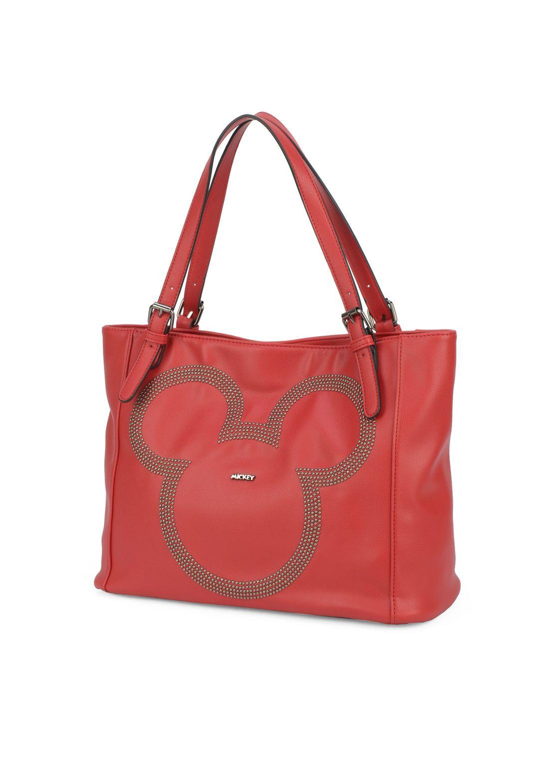 Bolsa Feminina Vermelha Mickey