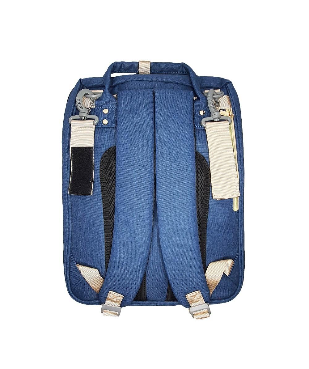 Bolsa Maternidade com Berço Portátil com Entrada USB - Azul