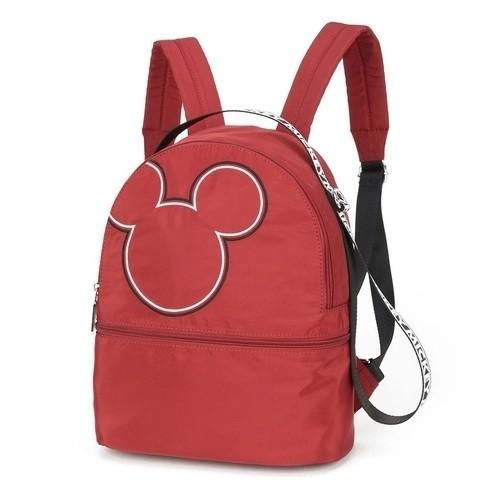 Bolsa Mochila Feminina Nylon Disney Mickey Mouse Vermelha