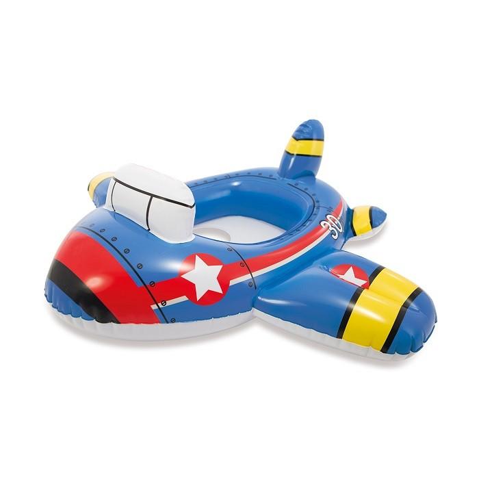 Bote Bóia Infantil Piscina Baby Avião Kiddie - Intex