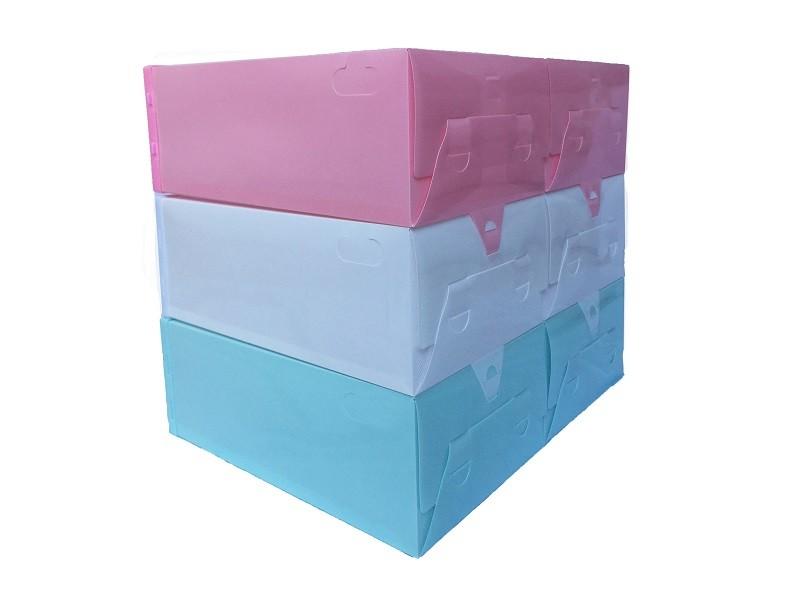 Caixa de Sapato Transparente Plástica - Branca (Unidade)
