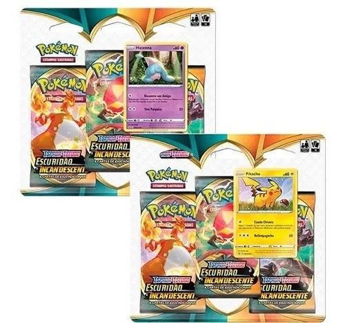 Cards Pokémon EE3 Blister Triplo - Escuridão Incandescente