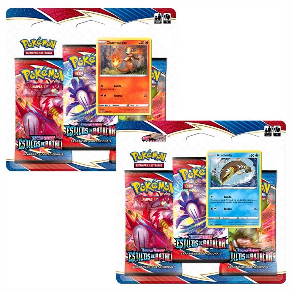 Cards Pokémon EE5 Blister Triplo - Estilos de Batalha