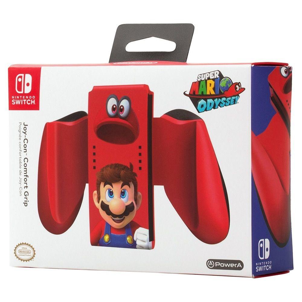 Carregador Nintendo Switch Joy-Con Comfort Grip - Mário Odyssey