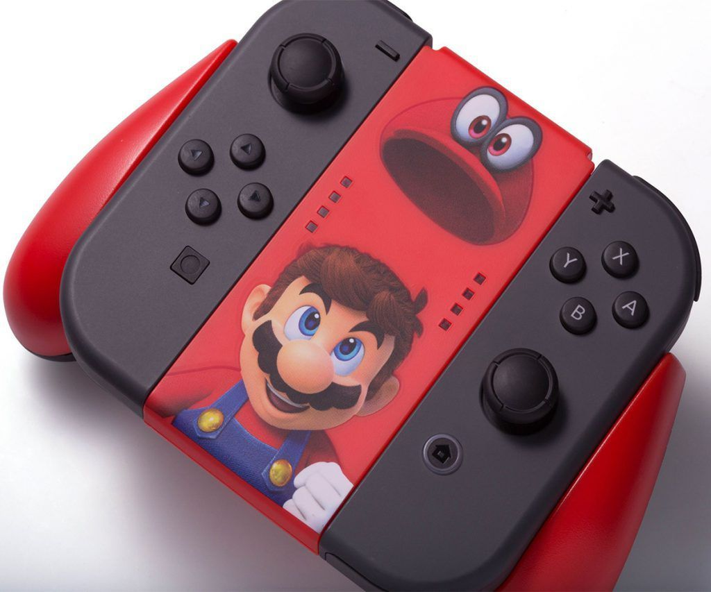 Carregador Nintendo Switch Joy-Con Comfort Grip - Mário Odyssey
