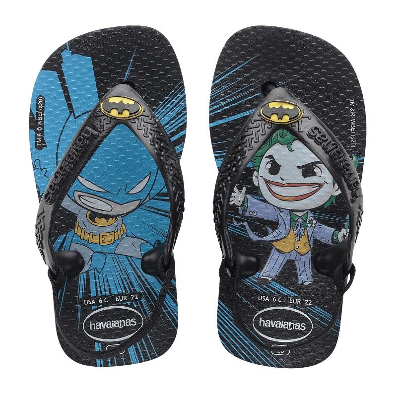 Chinelo Havaianas Baby Heróis Batman - Preto