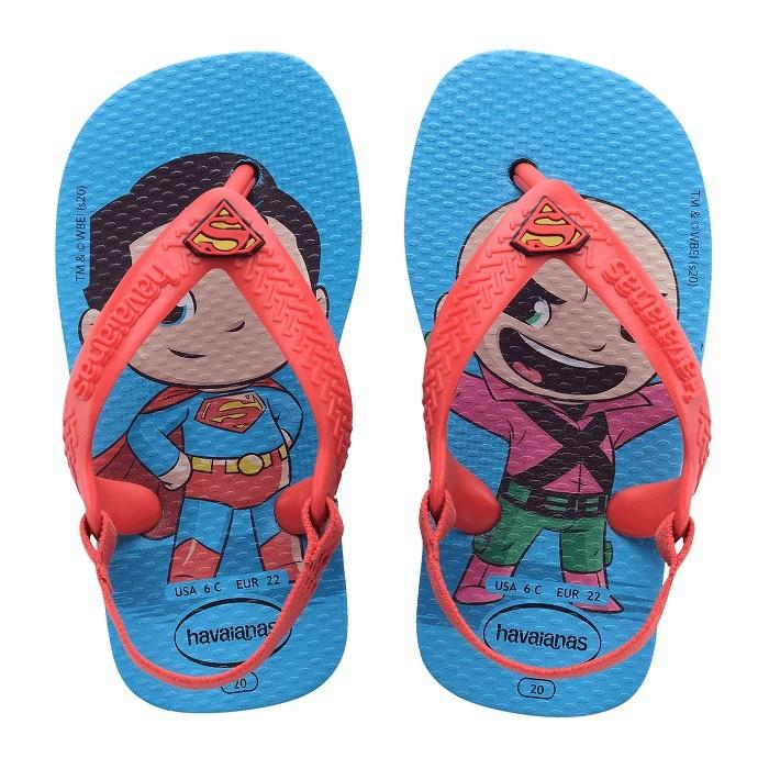 Chinelo Havaianas Baby Heróis Superman - Azul