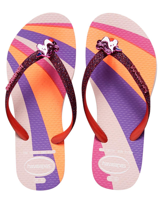 Chinelo Havaianas Kids Slim Glitter Unicórnio - Candy Pink