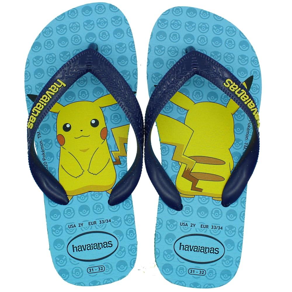 Chinelo Havaianas Kids Top Pokemon - Azul