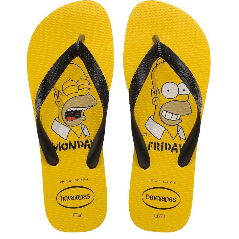 Chinelo Havaianas Simpsons (Homer) - Amarelo
