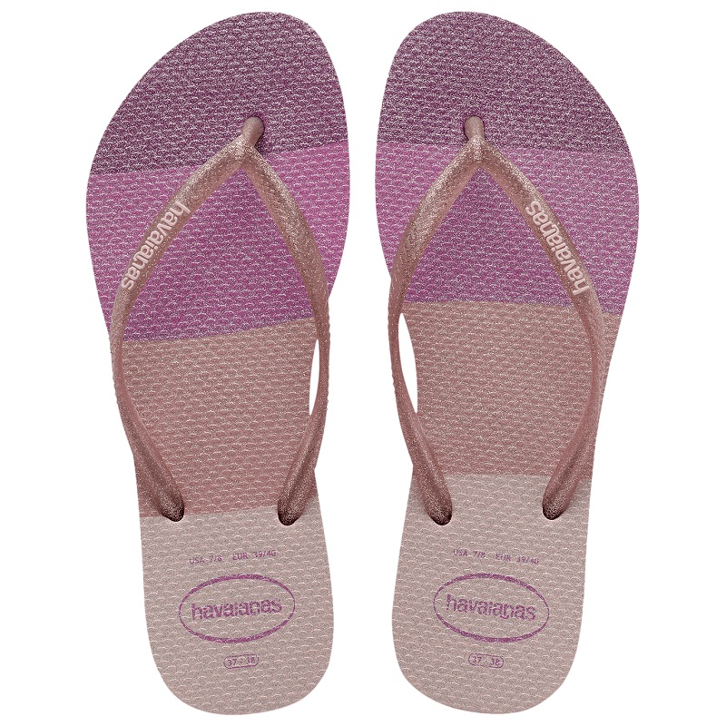 Chinelo Havaianas Slim Palette Glow - Candy Pink
